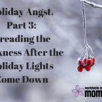 Holiday Angst, Part 3: Dreading the Darkness After the Holiday Lights Come Down