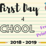 1st Day of School Signs :: Free Printables ::
