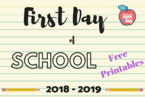 1st Day Of School Printable Featured Pic
