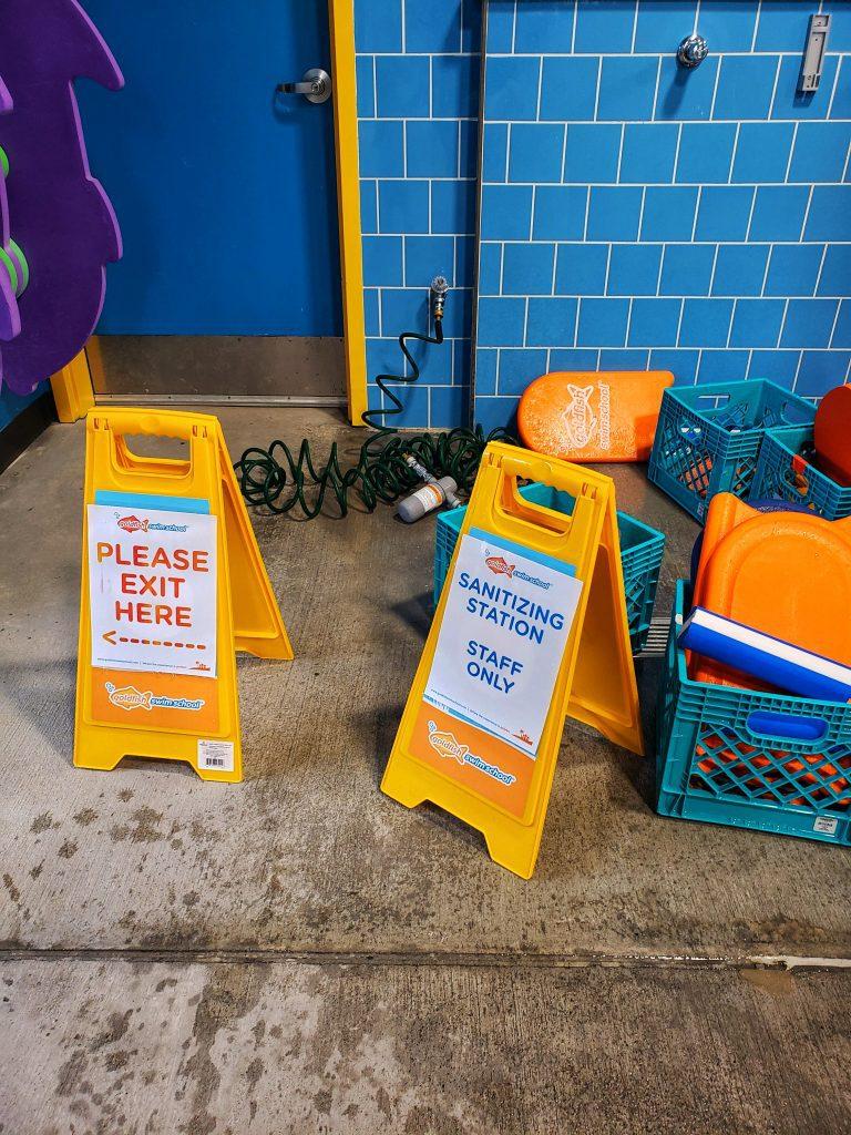 Image of Sanitizing Station Near Pool Exit